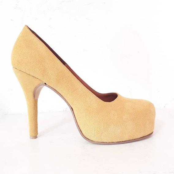 Huma10 Zapatos Stilettos Talles Grandes Maiz Amarillo