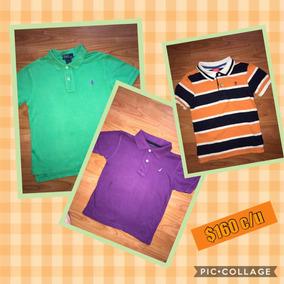 Polo Ralph Nautica Izod 3 Camisas Talla 6 Niño