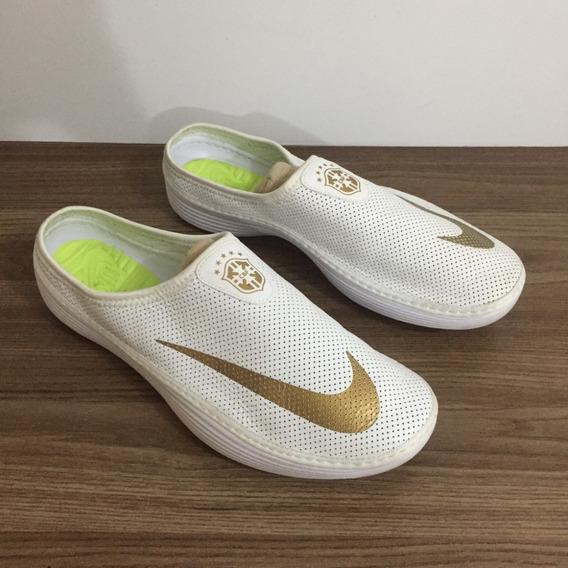 Sandália Chinelo Nike Solarsoft Mule Couro Tam 43 (raro)