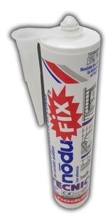 Adhesivo Sellador De Silicona Nodufix Blanco 280 Cm3 Sibaco