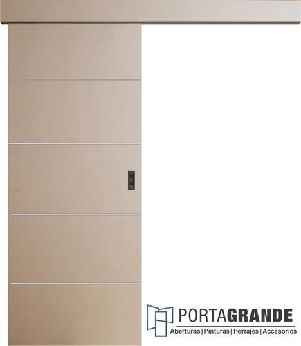 Imagen 1 de 3 de Puerta Corrediza Colgante Placa Económica+ Kit De 80 O 90
