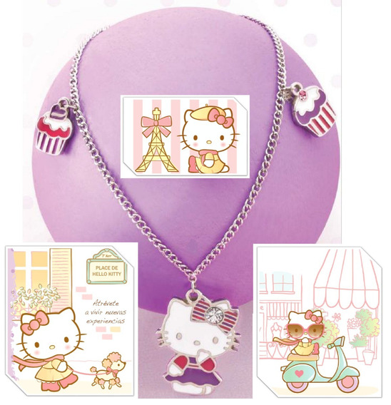 Collar Y Dije Hello Kitty Cupcakes