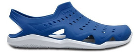 Zapato Crocs Caballero Swiftwater Wave M Azul/blanco