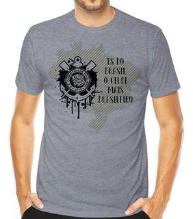 Camisa Camiseta Corinthians Timão Personalizada Futebol Time