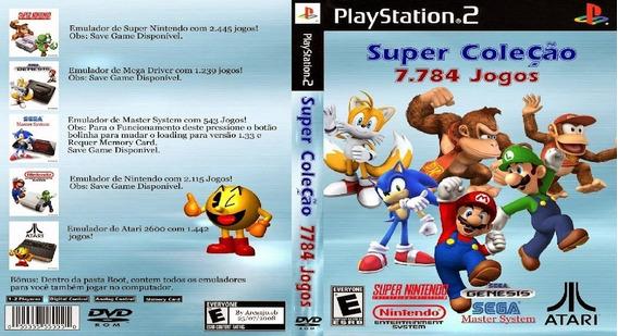 Super Coleção 7884 Jogos Super Nintendo, Atari, Mario Ps2