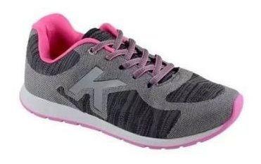 Tenis Infantil Menina Grafite/preto/pink Kidy 2194