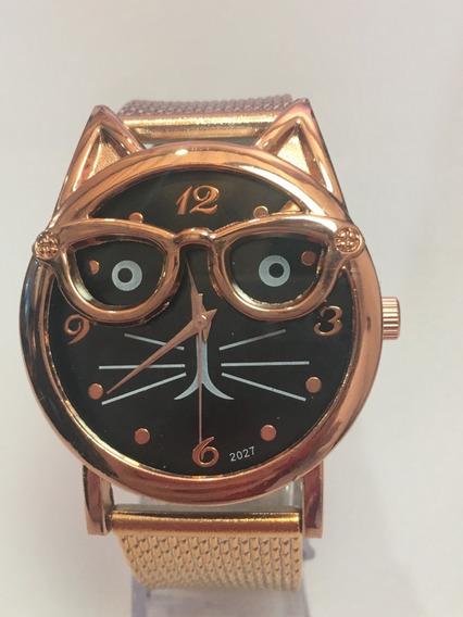 Relógio Feminino Dourado Luxo Para Mulheres De Bom Gosto