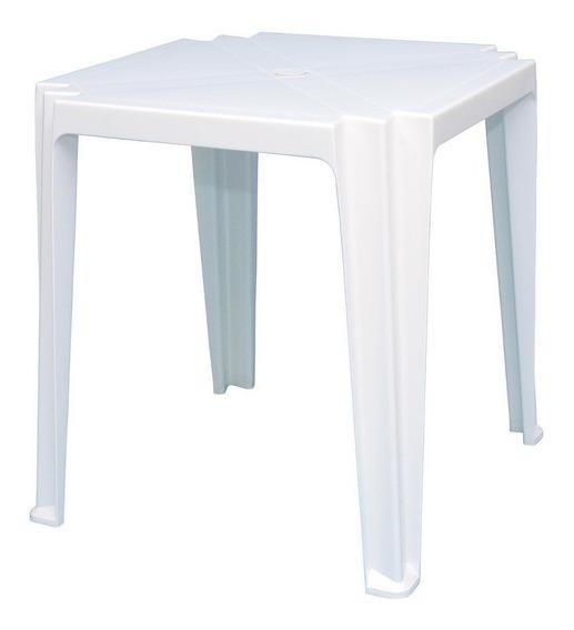Mesa De Plastico Quadrada Tramontina Tambaú Branco Fwt