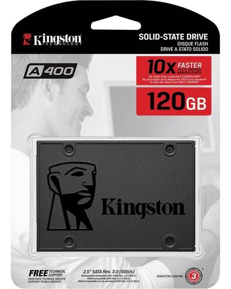 Ssd Kingston A400 120gb - 500mb/s Para Leitura E 320mb/s Par