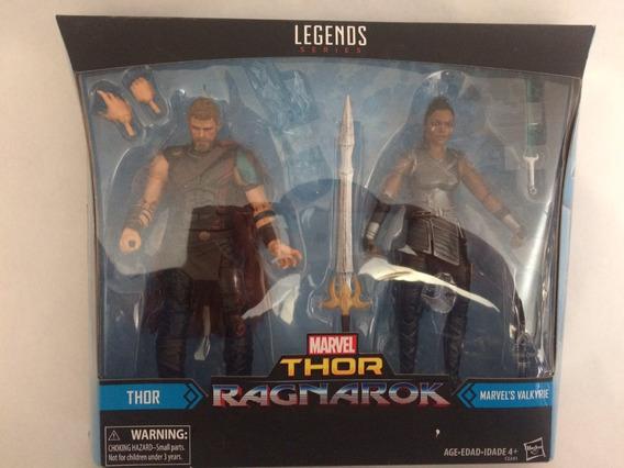Figuras Thor Y Valkyria Marvel Legends Hasbro Set