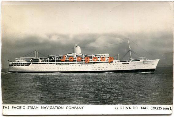 Postal Barco Pacific Steam Navigation Company Reina Del Mar