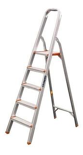 Escalera Aluminio 5 Escalones Familiar Lusqtoff Esl149-75