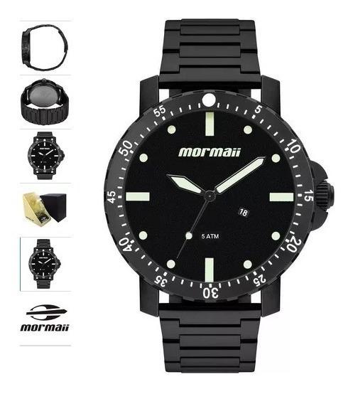 Relógio Mormaii Masculino Preto Extra Grande Mo2115bh/4p