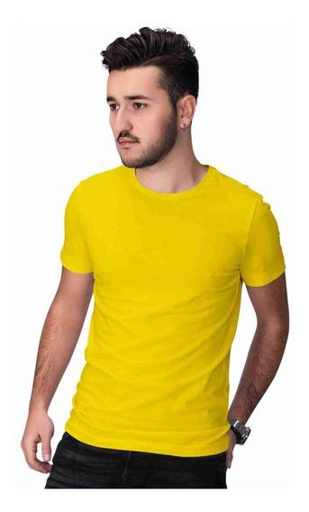 Camiseta Lisa Masculina 100% Algodão Tamanho Especiais