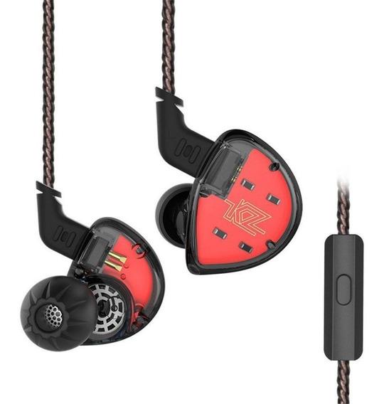 Fones Kz-es4 C/ Microfone + Case (no Brasil)