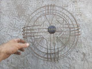 Antigua Rejilla Para Ventilador De Mesa 35 Diam X 18,5 Prof