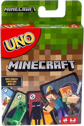 Juego De Cartas Uno Minecraft Original De Mattel