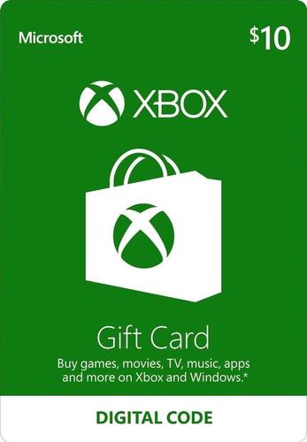 Xbox Live 10 Usd Codigo Digital Xbox Live Cuenta Americana