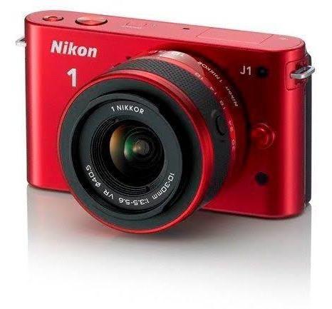 Camera Nikon J1 Profissional Vermelha Como Nova