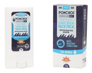 Protetor Solar Facial Premium 45 Fps- Ponchos - Zinco - Bege