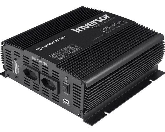 Inversor Conversor Automotivo 12v 110v 2000w Power Inverter