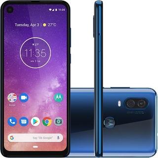 Motorola One Vision Dual Sim 128 Gb Azul 4 Gb Ram 1 Ano Gara