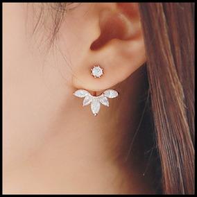 Brincos Delicados Feminino Ear Cuff Pedra Envio Imediato