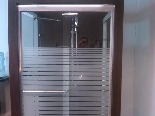Puertas De Baño Corredizas En Vidrio Templado Glassminium Ca