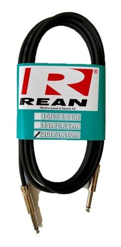 Cable Plug-plug Rean By Neutrik De 6mt Instrumento Musical