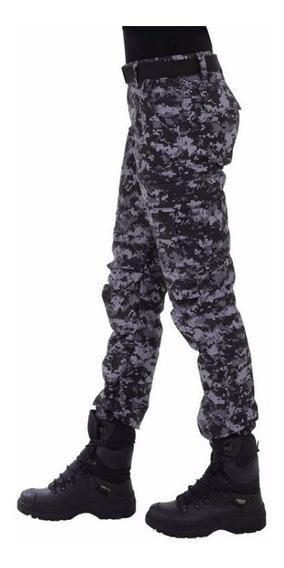 Calça Tática, Feminina, Exército, Camuflada Digital Petróleo