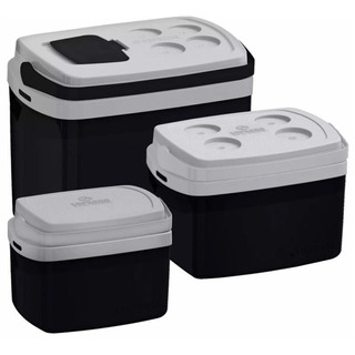 Kit Cooler 3 Caixas Térmicas 32 12 E 5 Litros Soprano Preta