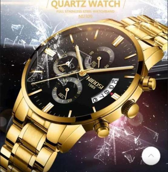 Relógio Masculino Nibosi 2309 Cronógrafo Completo Original