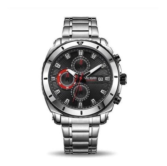 Relógio De Luxo Cronos Totalmente Funcional Original Megir