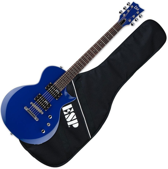 Guitarra Les Paul Esp Ltd Azul Novissima C/bag Na Sommexe