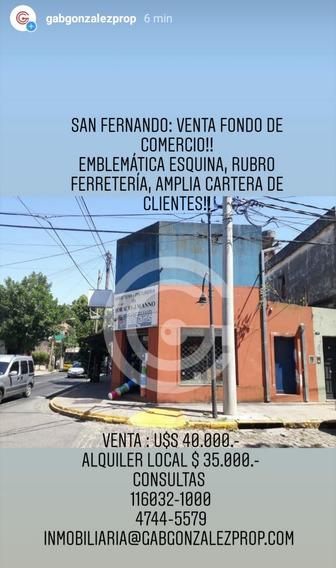 Venta Fondo De Comercio San Fernando