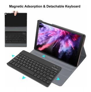 Funda De Cuero C/teclado Samsung Tab A 10.1 Sm-t510/t515
