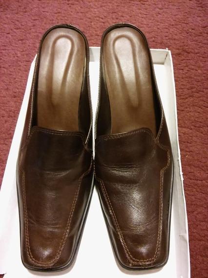 Imperdibles Zapatos De Cuero Chocolate
