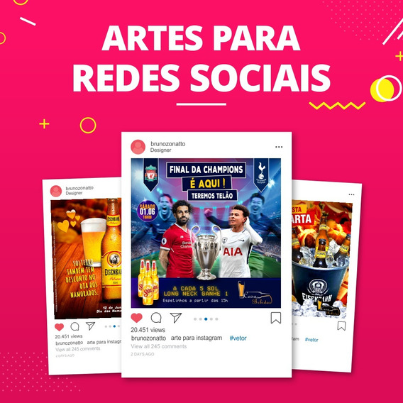 Artes Para Redes Sociais - Pack 8 Artes