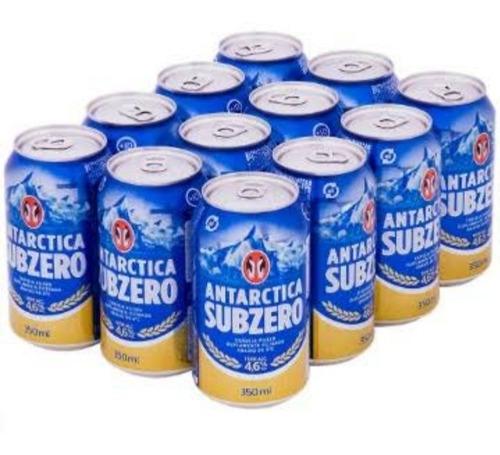 Kit Com 12 Unid Cerveja Antarctica 350ml Lata Sub Zero