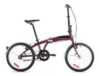 Bicicleta Plegable Origami Aluminio Rodado 20 Futura Kromos