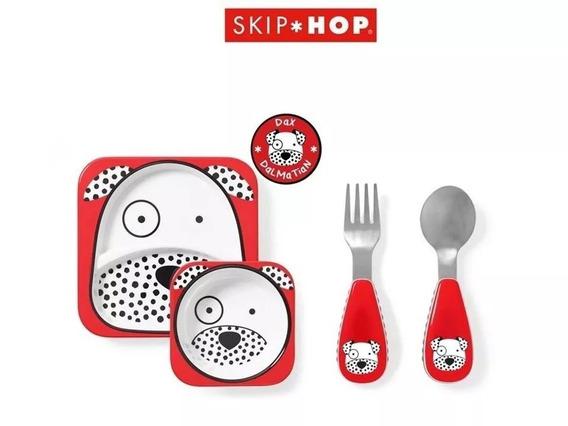 Skip Hop Pratos E Talheres Kit Alimentação Zoo Dálmata