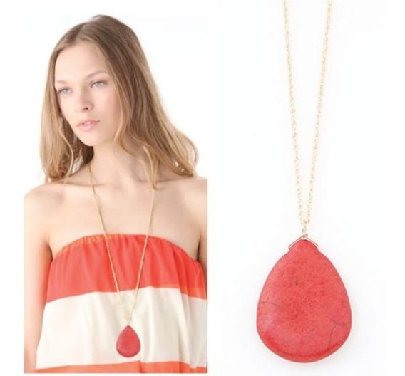 Collar Para Mujer Piedra Turquesa + Precio De Mayoreo