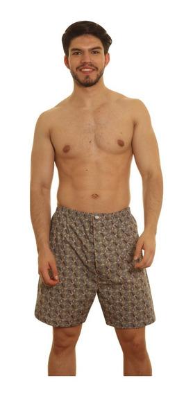 Pantalón Pijama Bermuda Hombre Corto Talle 62 Al 68 Algodón