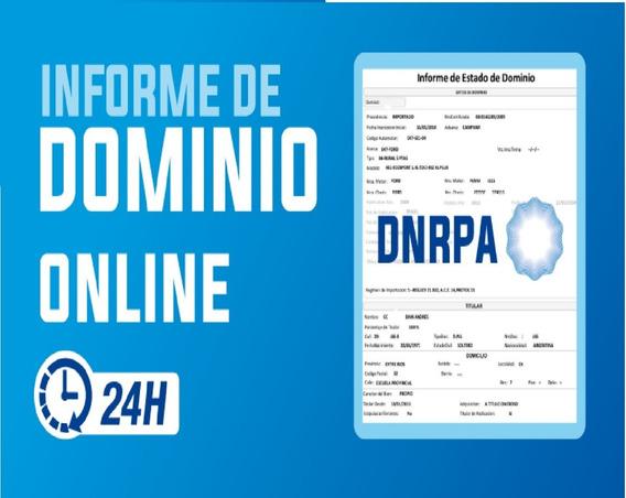 Informe De Dominio Urgente + 12% Descuento