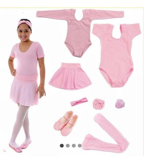Roupa De Ballet Infantil Com Dois Collants