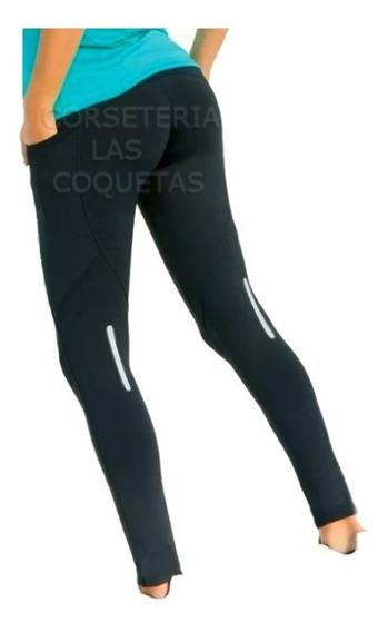 Calza Deportiva C/bolsillo Y Reflex Lateral Mozione Art 6181