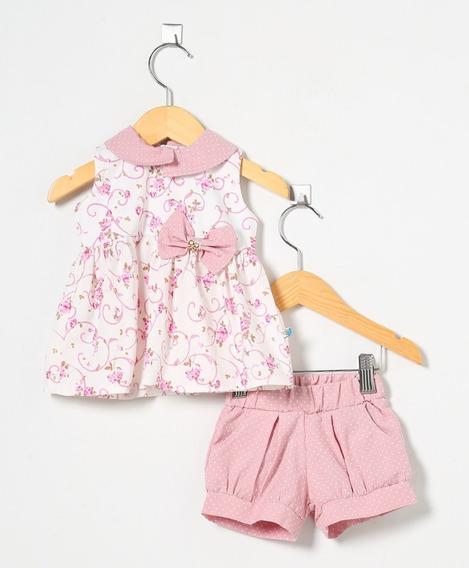 Conjunto Bebê Menina Floral