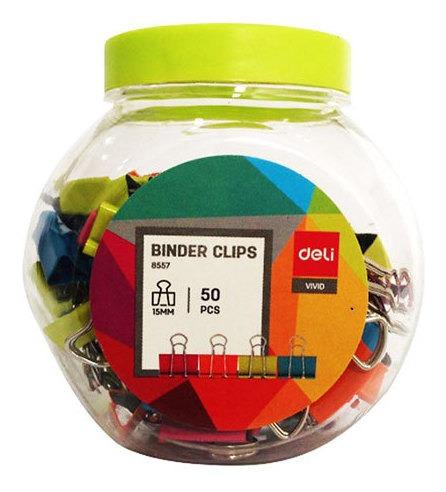 Imagen 1 de 3 de Aprieta Papel Doble Clip 15mm X50 Colores