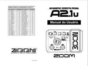Manual Zoom A2- 1u Em Português