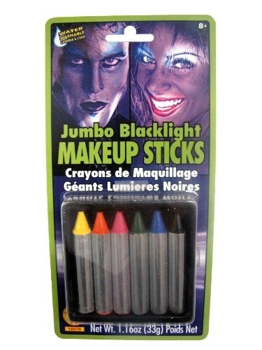 Rubies Jumbo Blacklight Palos De Maquillaje